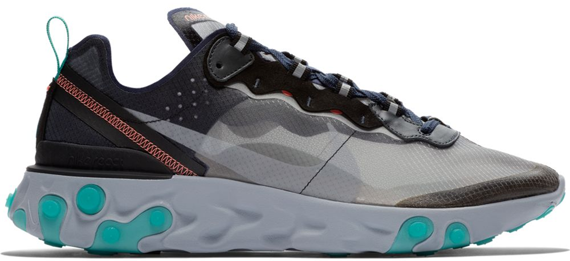 a8487843480f Check out the Nike React Element 87 Black Neptune Green available on StockX