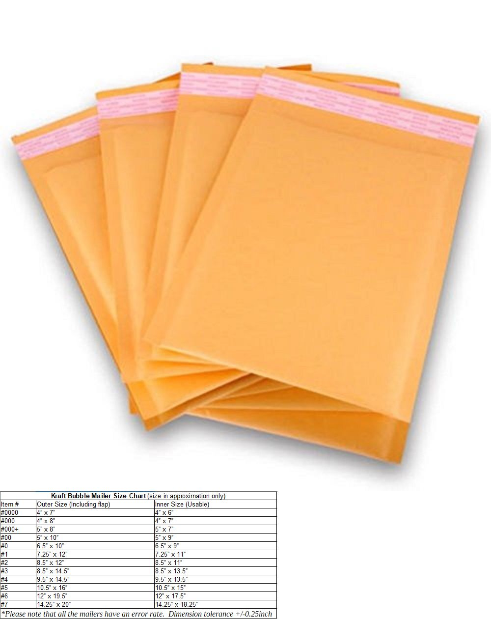 SuperPackage® 50 #4  9.5 X 14.5  Kraft Bubble Mailers Padded Envelopes 50KB#4