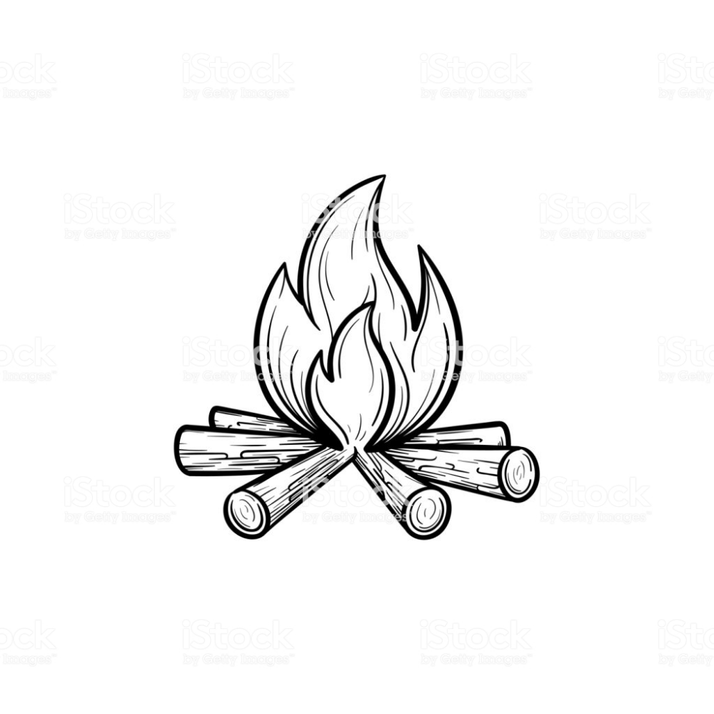 Campfire Hand Drawn Outline Doodle Icon Fireplace Vector Sketch How To Draw Hands Sketch Icon Campfire Drawing