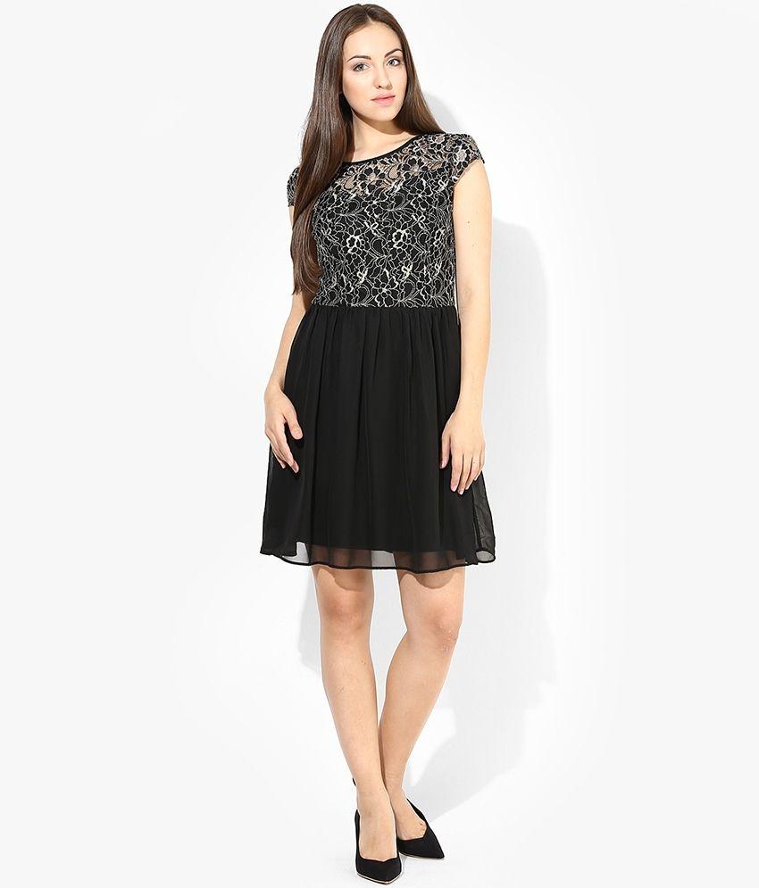 Vero Moda Black Casual Skater Dress
