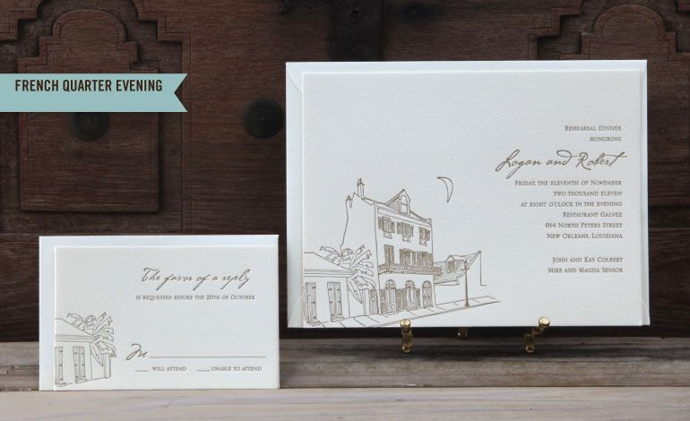 Scriptura - Letterpress Wedding Invitations with a New Orleans Flair