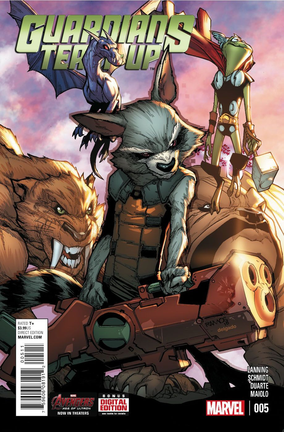10b17bb96 Rocket Raccoon - Guardians Team-Up #5 - Cover by Humberto Ramos ...