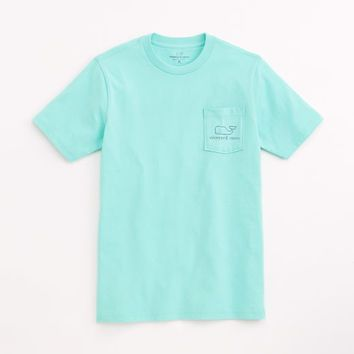 Boys Short-Sleeve Vintage Whale Pocket Tee