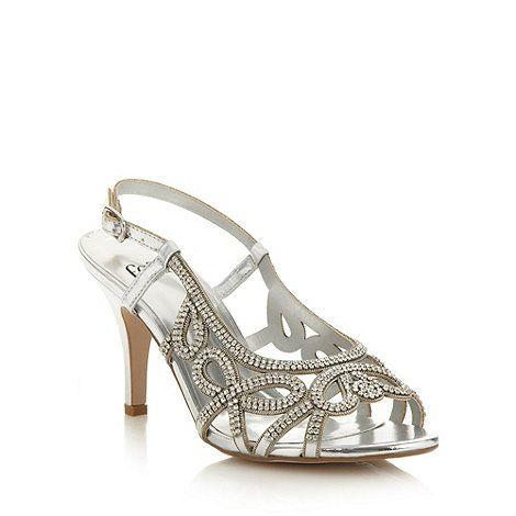Faith Silver diamante high sandals- at Debenhams.com | wedding ...