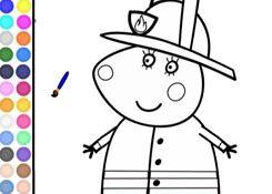 desenho de Peppa Pig com osnbalões para colorir