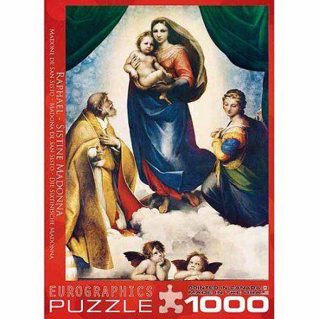 EuroGraphics Sistine Madonna by Raphael 1000-Piece Puzzle, Multicolor