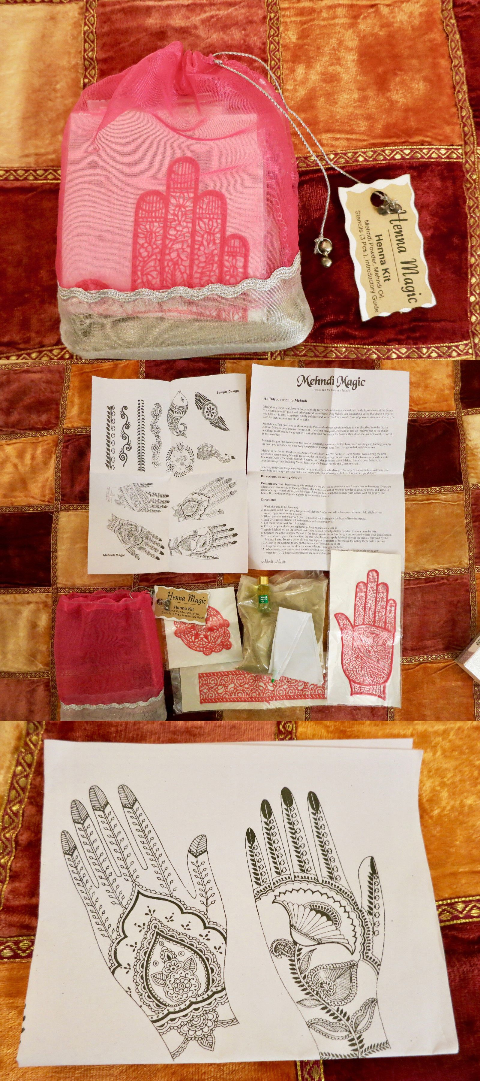 Henna Paste And Powder 60890 New Henna Magic Kit Mehndi Powder Oil