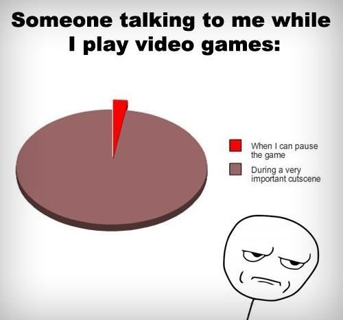 Video Games and Talking [Pie Chart] | Nerdy Enough To