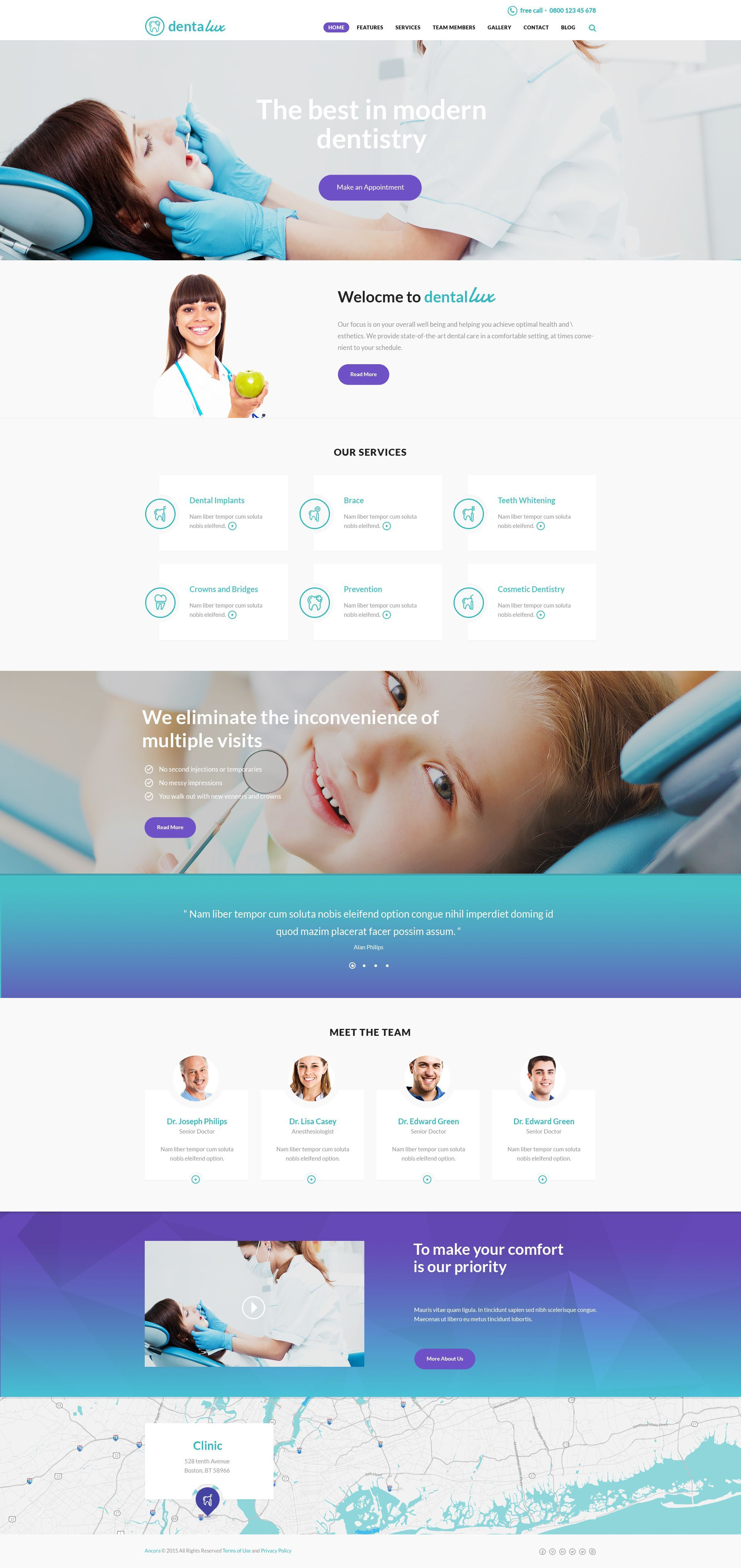 Dentalux Is An Ideal Fit For Dental Clinics And Any Other Medical And Healthcare Related Businesses Such Medical Website Design Medical Design Dental Website
