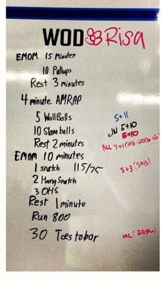 Crossfit wod workout garage gym