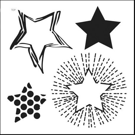 The Crafteru0027s Workshop - 12 x 12 Doodling Templates - Layered - star template