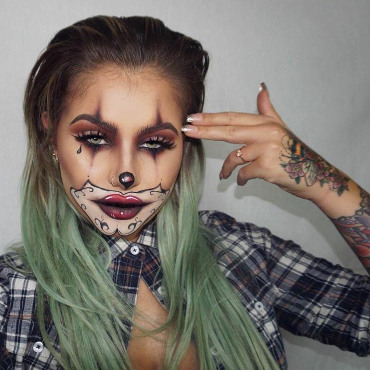 Idea per un make up da pagliaccio 4f3c246a7457