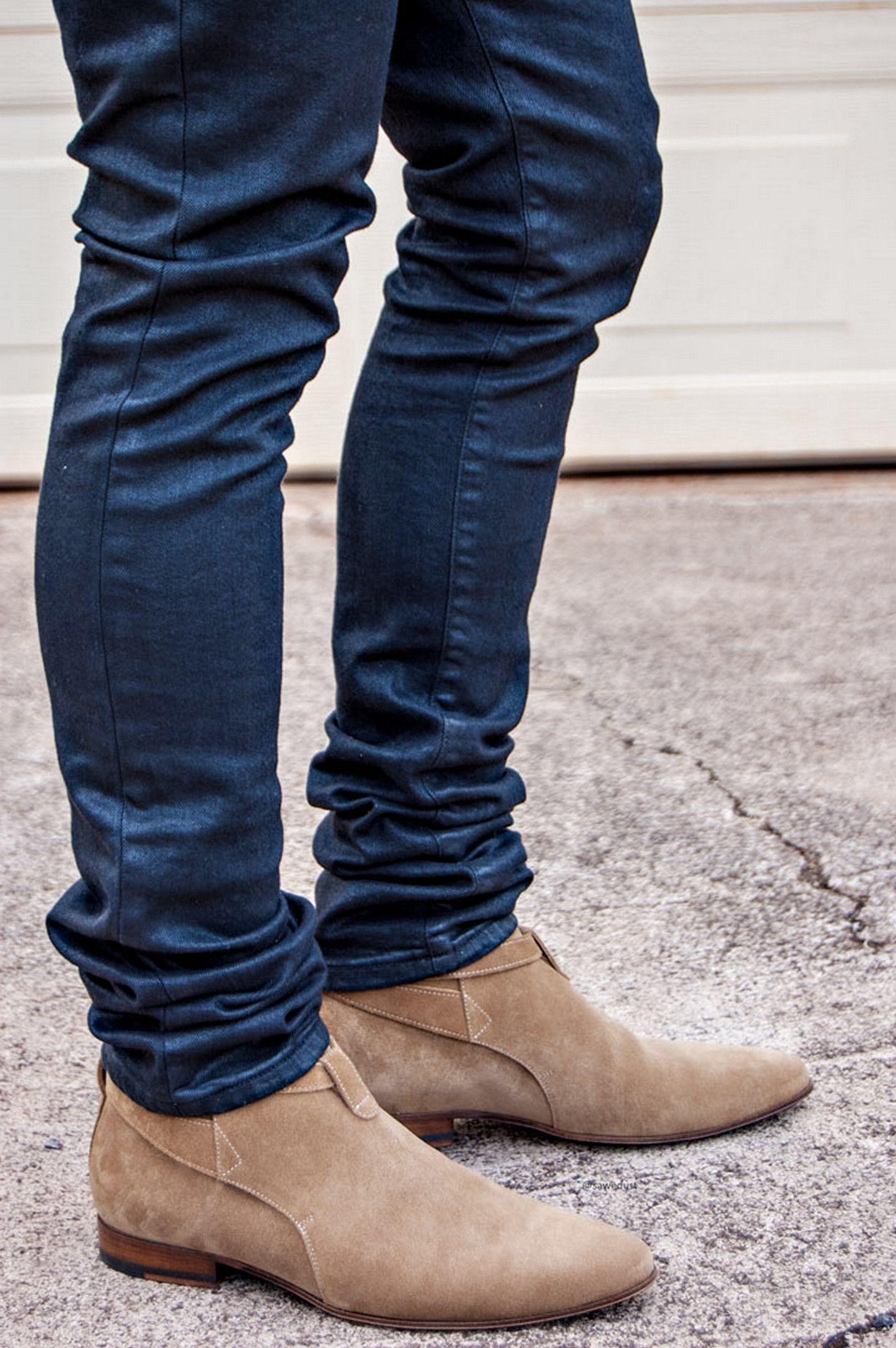 Men shoes with jeans, Mens shoes boots