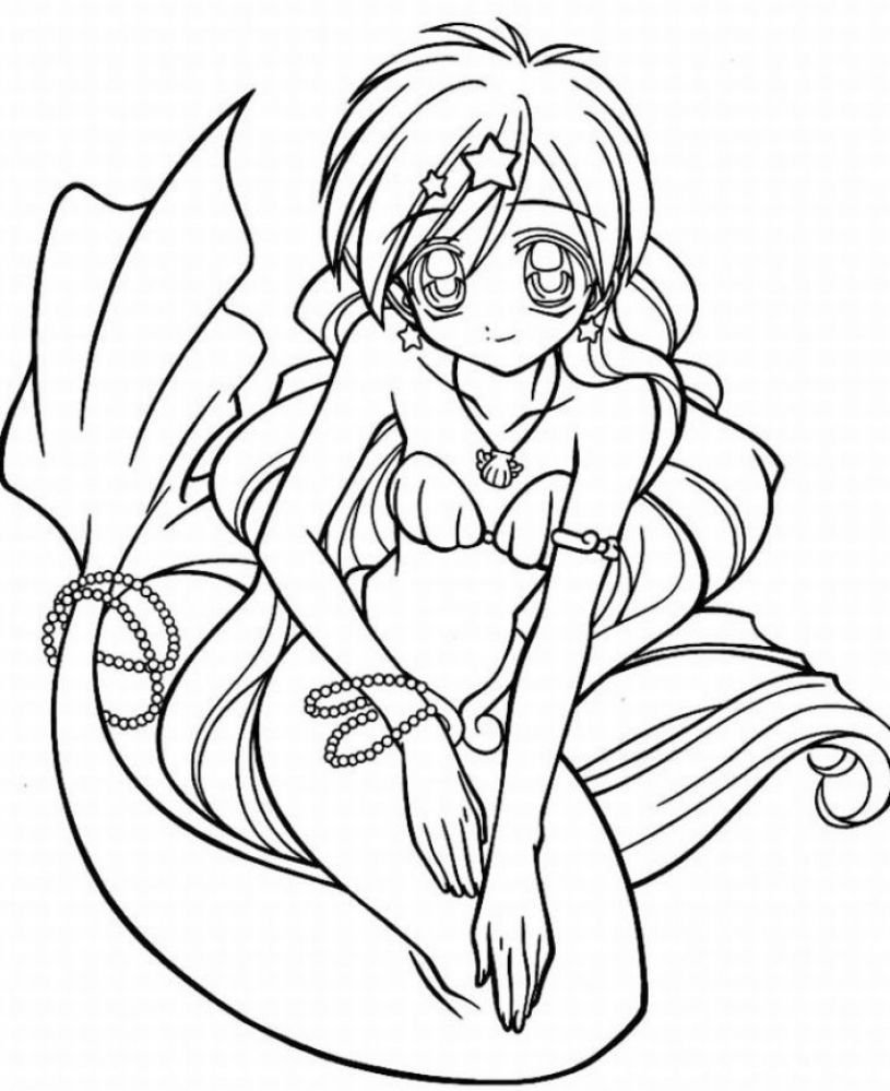coloring pages to print for teenagers 04 | mermaids | Pinterest ...