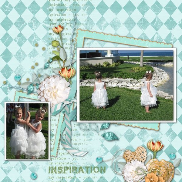 """Created with """"Get Inspired"""" by, Alenka Designs ,Benthaicreations,LeaUgoScrap,Thaliris Designs,Yours&Mine. This softly colored collaboration is perfect for Weddings, Engagement , Family and other Celebrations. Contains; 39 Elements and 15 beautiful papers!   http:///...designresort-p-25074"""