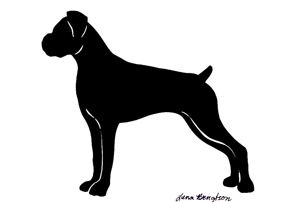 Boxer Dog Silhouette Clip Art The Boxer is a ...