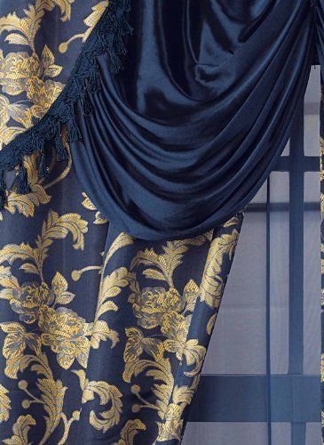 All In One Curtain Set 56 W X 84 L Curtains Color Blue Carol