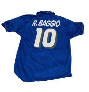 Roberto Baggio 94 World Cup Italy Football Soccer Home Blue Jersey Shirt