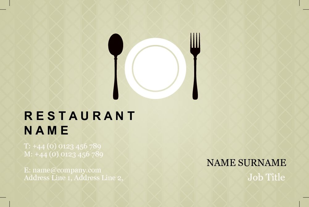 Classic business card design for restaurants cafes customise a classic business card design for restaurants cafes customise a range of business card templates reheart Image collections
