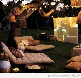 The RK Group News: Planning the Perfect Outdoor Movie Party