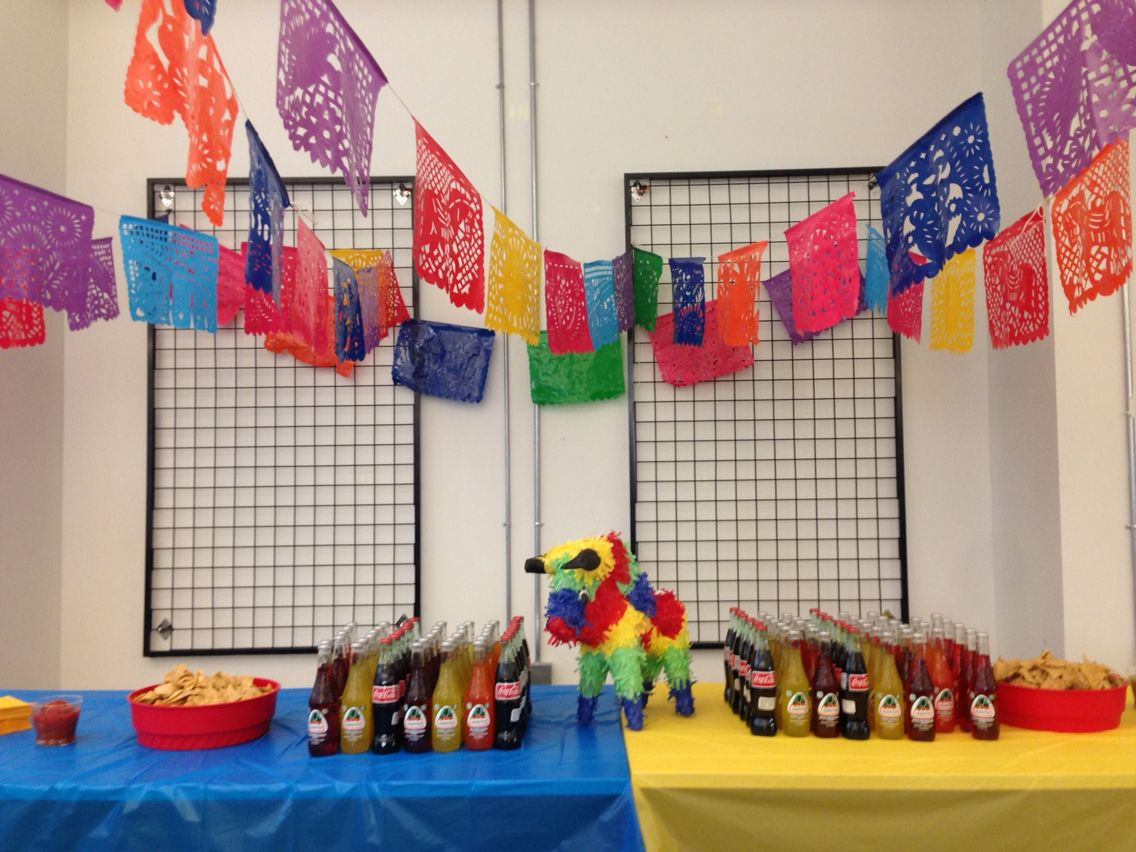 Office ideas for cinco de mayo - Cinco De Mayo Office Party Salsabar Jarritos Mexicancoke Papelpicado Mexicanthemed