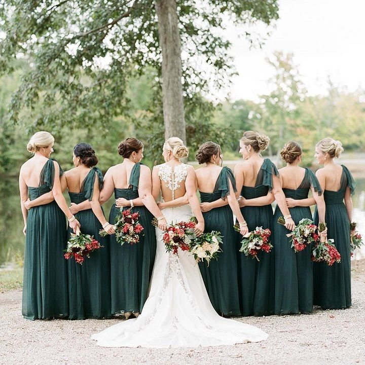 Emerald Bridesmaids Dresses The Perfect Look For A Fall