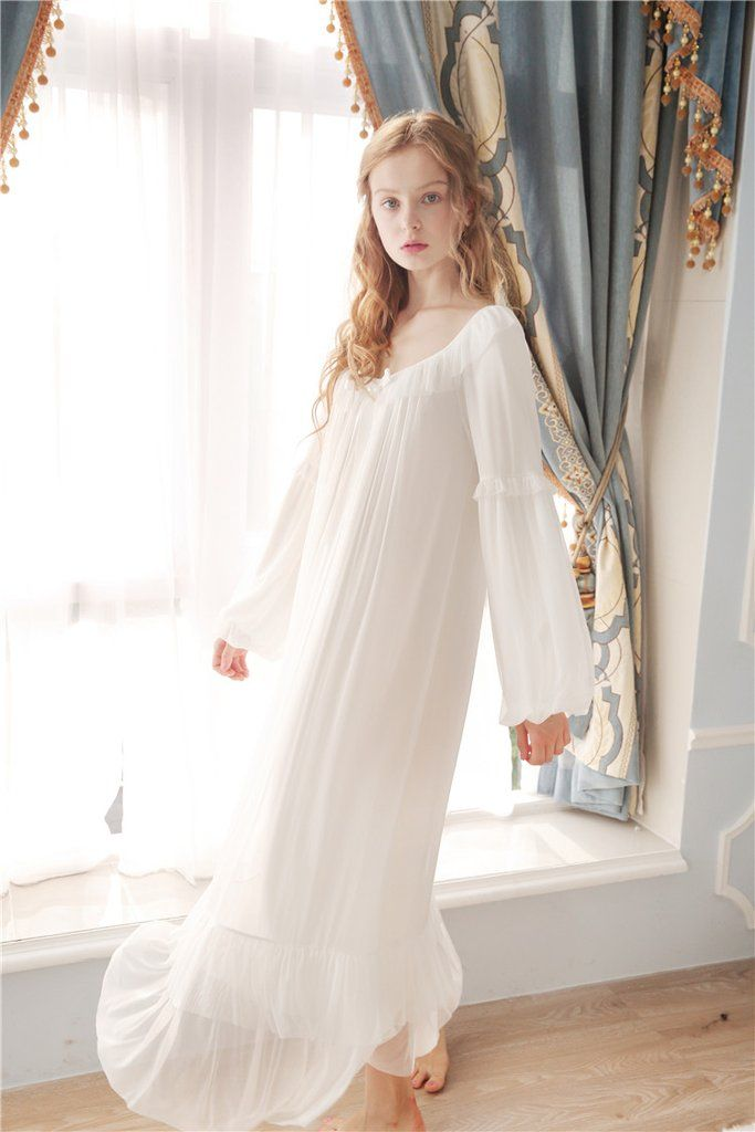 Lily\'s Secret Ultra Soft Gauze Vintage Night Gown Women Spring ...