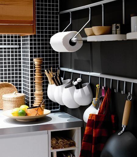 Decoracion facil: accesorios de pared para organizar la cocina ...