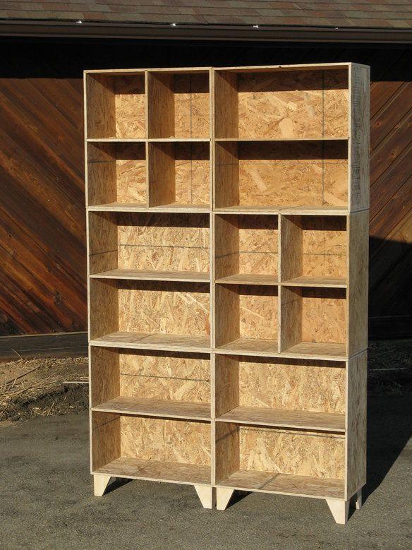 Modular Osb Bookcase Cubbies Mix And Match Osb Wood