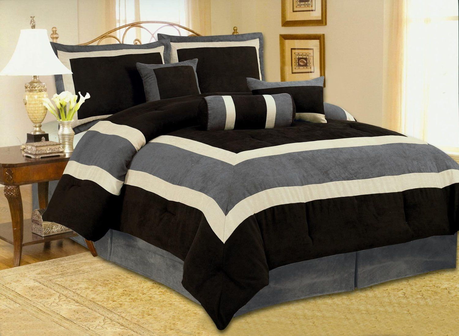 Amazon Com High Quality Micro Suede Comforter Set Bedding In A