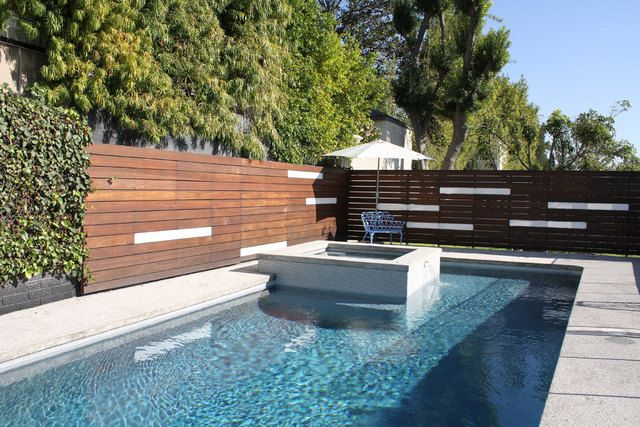 white horizontal wood fence. Modern Fence Of Horizontal Wooden Slats With Accent White (or Have Framed Pass Thru Wood E