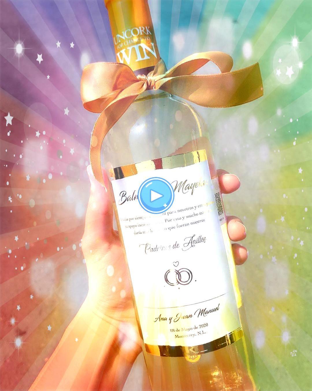 de vino blanco con etiqueta personalizada dorada  Escríbenos para más información  Detalle de vino blanco con etiqueta personalizada dorada  Escr&iac...