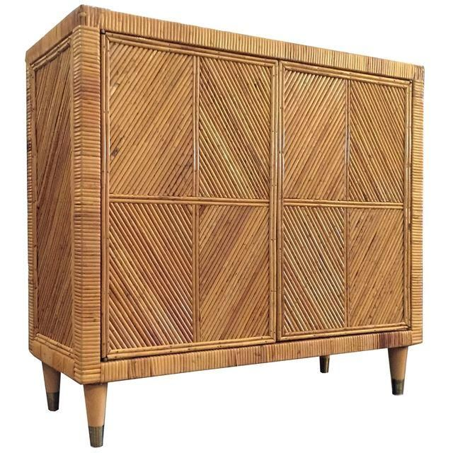 Image Of Vintage Split Bamboo Cabinet Bamboo Cabinets Cabinet