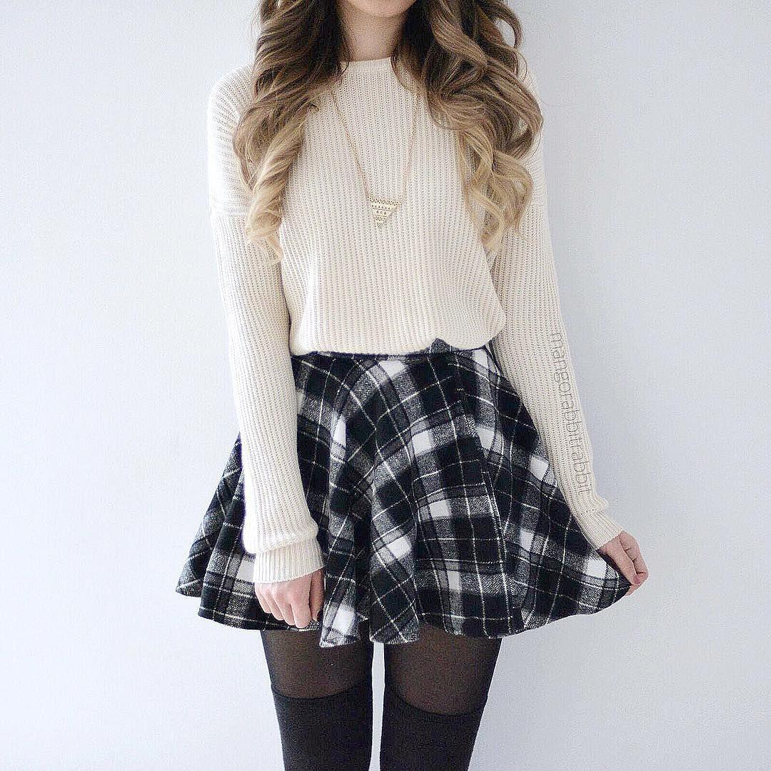 00a2a45533ae Love this B W Plaid Brenda Skirt from  shopmangorabbit! worn by Kerina Mango  ♡♥♡♥♡♥