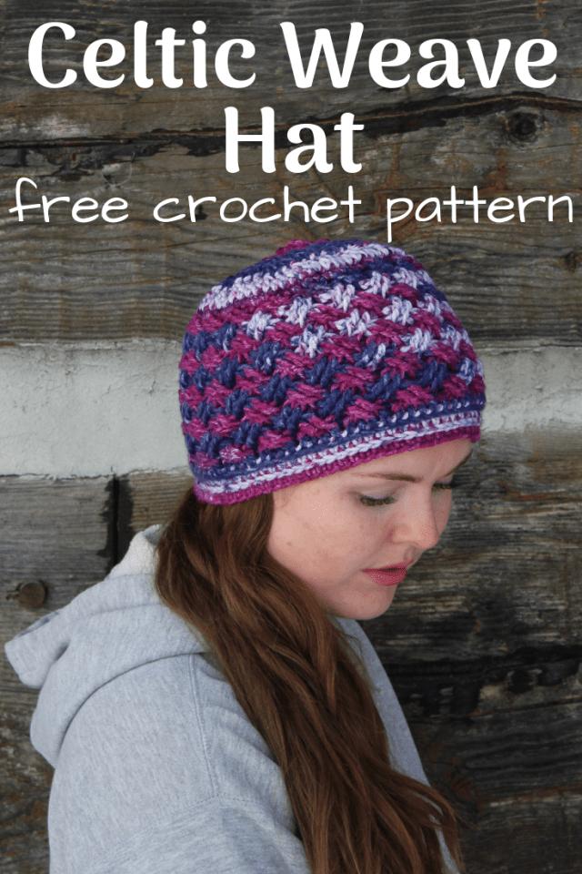 4259196d2f1 Celtic Weave Hat - Edyth Blayn  Free crochet pattern