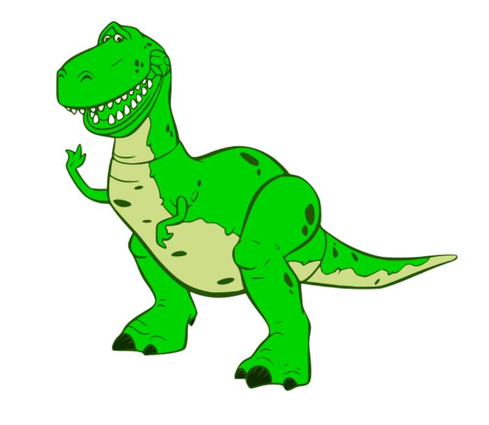 Displaying KraftyNook_TOY STORY - Rex.svg | RISCOS E DESENHOS ...