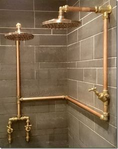exposed pipe shower . Exposed Copper Pipe Shower  For The Home Pinterest