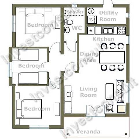 3 2 Bedroom House Plans In Addition Story Floor