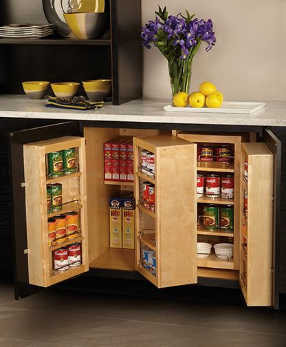 Base Pantry Cabinet: Store food where it\'s easy to view and access ...