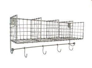 Locker Room Wire Shelves Storage Baskets Hooks Kitchen