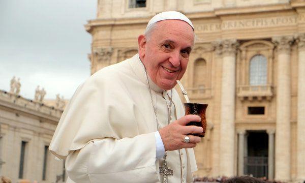 Papa Francisco tomando mate #Argentina