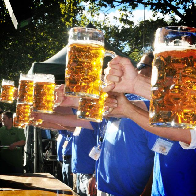 Top Flex those beer muscles at Oktoberfest stein-holding competitions ZW29