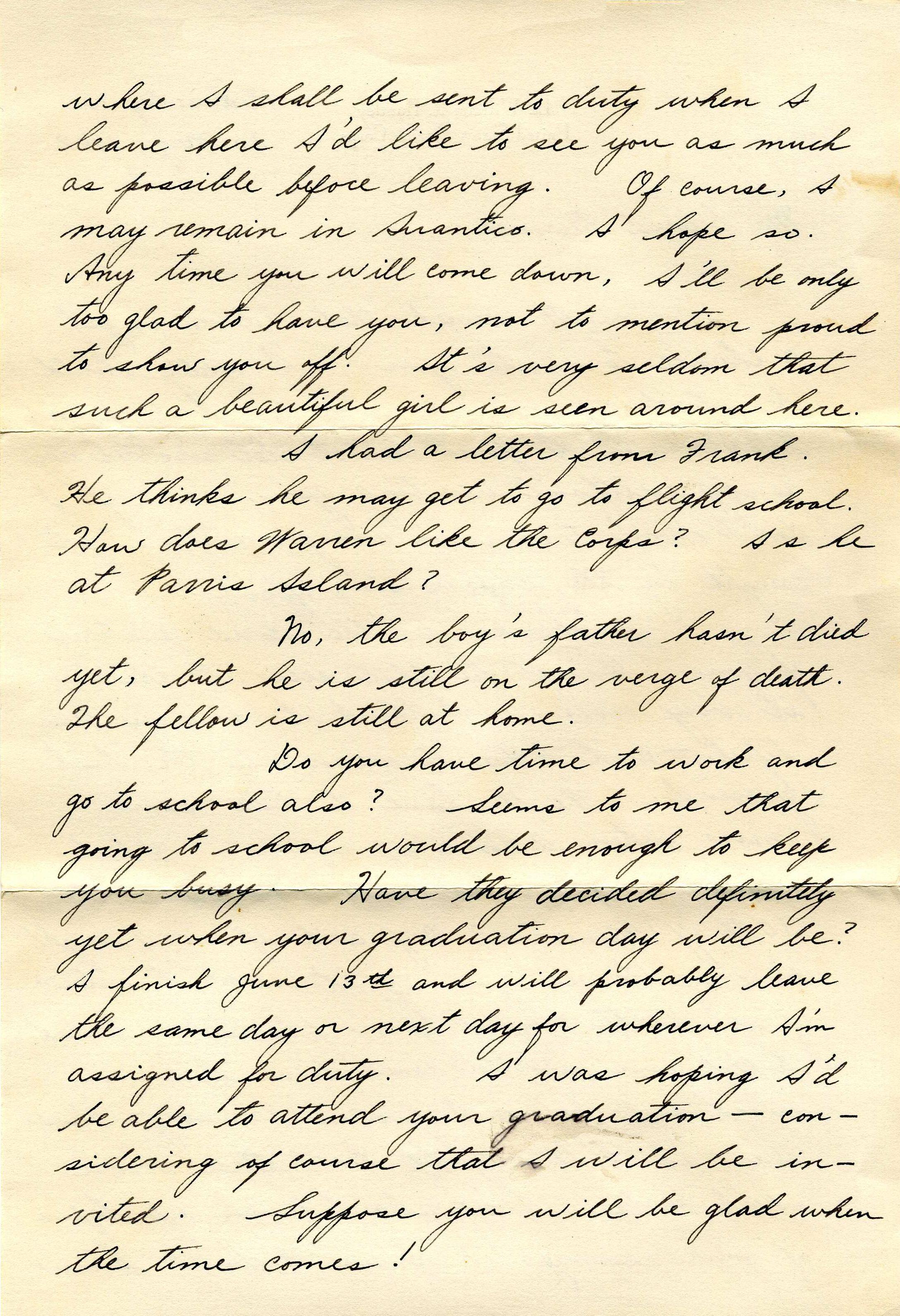 My beloved Bernice ~ 20 May, 1942 – Dear Bernice | Junk