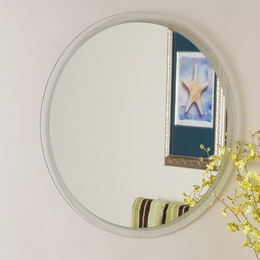 Decor Wonderland Contempo 23 6 In Clear Round Bathroom Mirror Lowes Com Round Mirror Bathroom Mirror Mirror Decor
