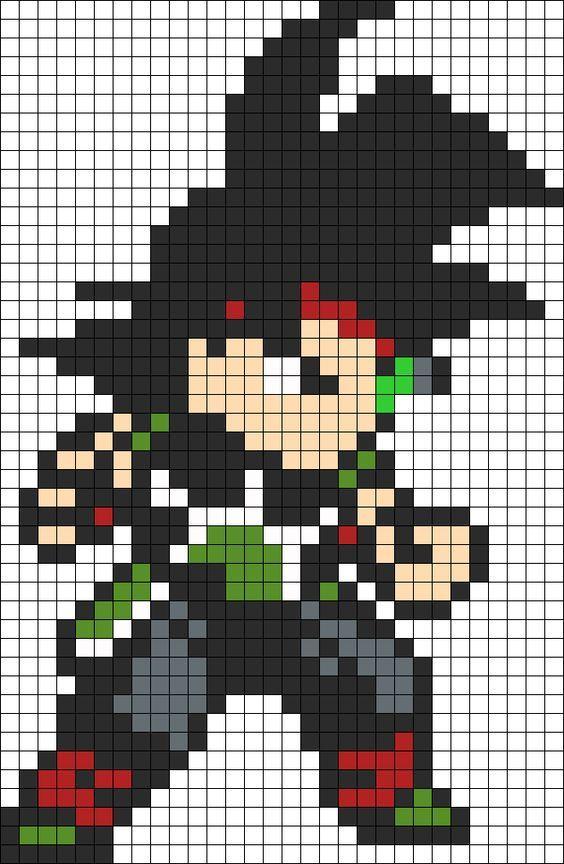 Dibujos Dibujos En Pixeles Dibujos En Cuadricula Como Dibujar A Goku