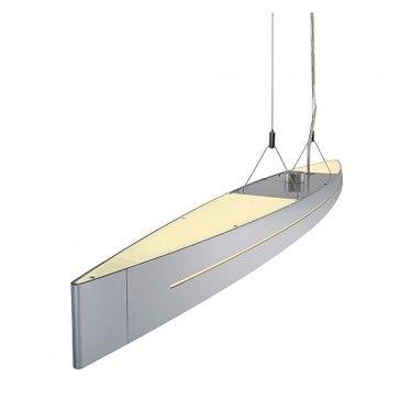 NAVALIS Pendelleuchte, silbergrau, T5, 54W, dimmbar / LED24-LED Shop