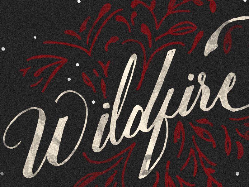 Wildfire by Isaac Villanueva (Sacramento, CA) Typography