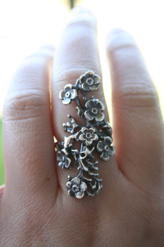 Vintage 925 Sterling Silver flowers and leaf design Stunning in size ...