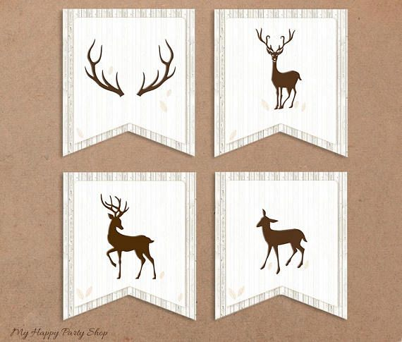 Deer Baby Shower Banner Welcome Baby Deer Banner Baby Deer Baby