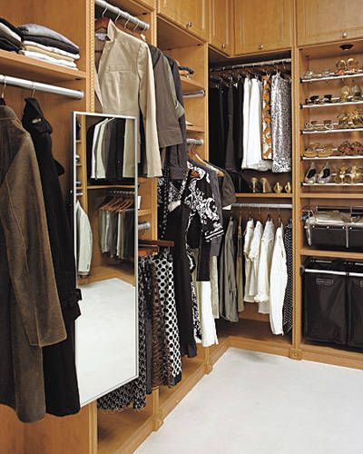 PULLOUT MIRROR: A Full Length Mirror Is Essential In A Closet, But Not
